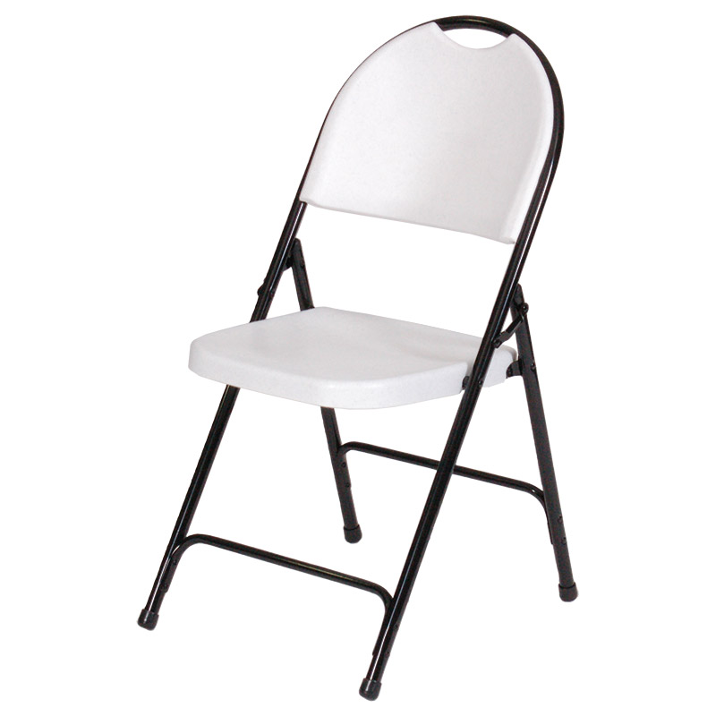 Correll Injection Molded Plastic Folding Chair Set of 4