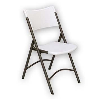 Correll RC400 Quick Ship Blow Molded Plastic Folding Chair - Set of 4 - Gray or Mocha Color COR-RC400