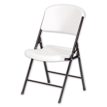 Correll RC600 Quick Ship Blow Molded Plastic Folding Chair - Set of 4 - Gray or Mocha Color COR-RC600
