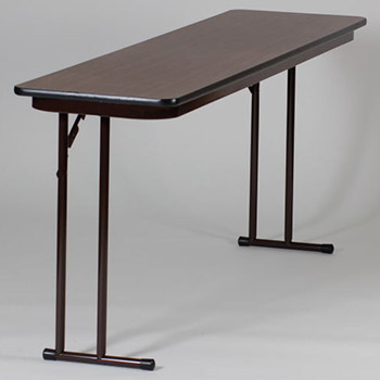 "Correll 18"" x 60"" Quick Ship 2 Person High-Pressure Laminate Surface Seminar Folding Table w/Off-Set Legs COR-ST1860PX"