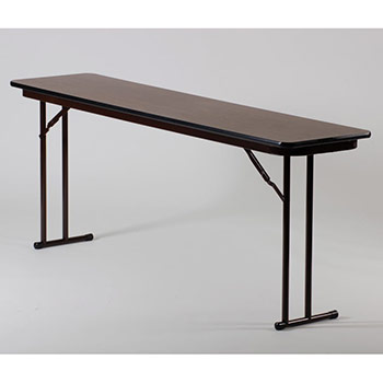 "Correll 18"" x 72"" Quick Ship 3 Person High-Pressure Laminate Surface Seminar Folding Table w/Off-Set Legs COR-ST1872PX"
