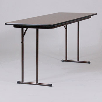 "Correll 24"" x 60"" Quick Ship 2 Person High-Pressure Laminate Surface Seminar Folding Table w/Off-Set Legs COR-ST2460PX"