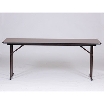 "Correll 24"" x 72"" Quick Ship 3 Person High-Pressure Laminate Surface Seminar Folding Table w/Off-Set Legs COR-ST2472PX"