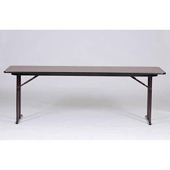"Correll 24"" x 96"" Quick Ship 4 Person High-Pressure Laminate Surface Seminar Folding Table w/Off-Set Legs COR-ST2496PX"