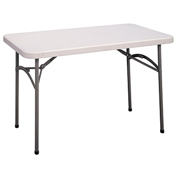 "Cosco 4 Foot Blow-Molded Plastic Folding Table (24"" x 48"") COS-14148WSP1"