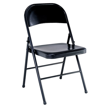 Cosco Steel Folding Chair - Set of 4 - Black Color COS-1471005X