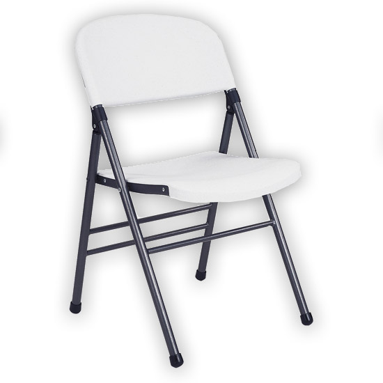 Cosco Home and fice Molded Plastic Folding Chair Set of 4 White Color