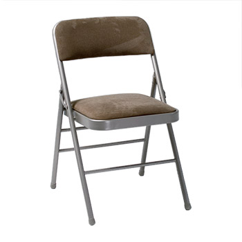Cosco Deluxe Steel Padded Folding Chair - Set of 4 - Taupe Color COS-14885CHT