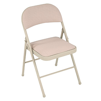 Cosco Deluxe Steel Padded Folding Chair - Set of 4 - Sand Color COS-14995BMD4