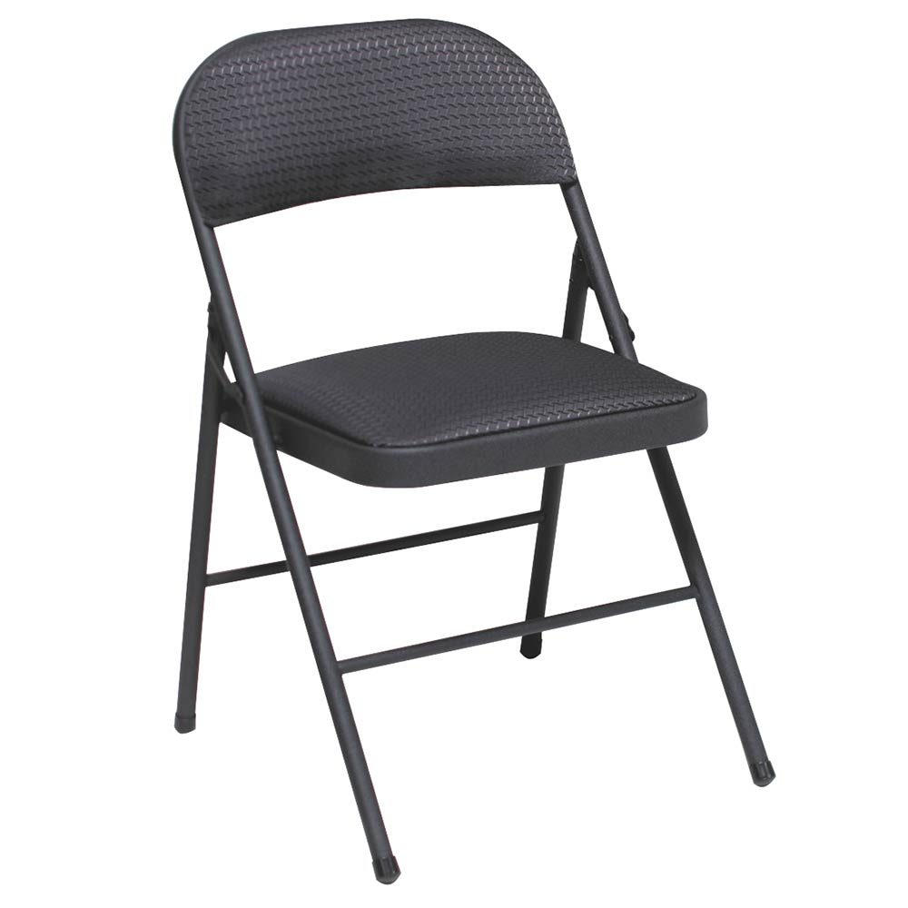 Cosco Home and fice Fabric Seat & Back Folding Chair Set of 4 Black
