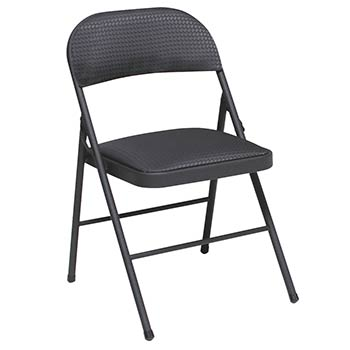 Cosco Fabric Seat and Back Folding Chair - Set of 4 - Black COS-14995TMS4