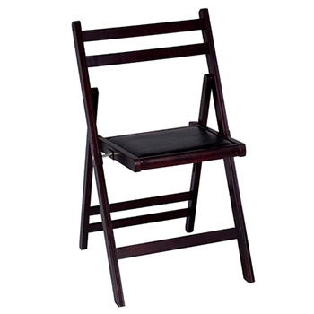 Cosco Wood Slat Folding Chair - Set of 4 -  Mahogany Finish COS-37278DMB4