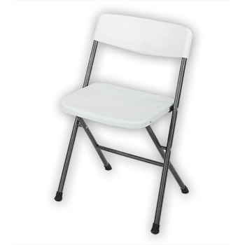 Cosco Cross-Fold Molded Plastic Folding Chair - Set of 6 - White Color COS-37825WSP6