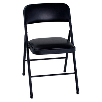 Cosco Vinyl Padded Folding Chair  - Set of 4 - Black Color COS-378430054