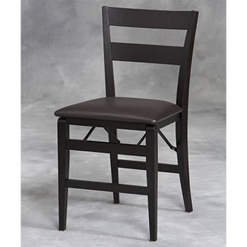 Firenze Wood Folding Chair w/Vinyl Seat LIN-01818ESP-02-AS