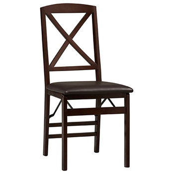 Triena X-Back Wood Folding Chair LIN-01826ESP-02-AS-U