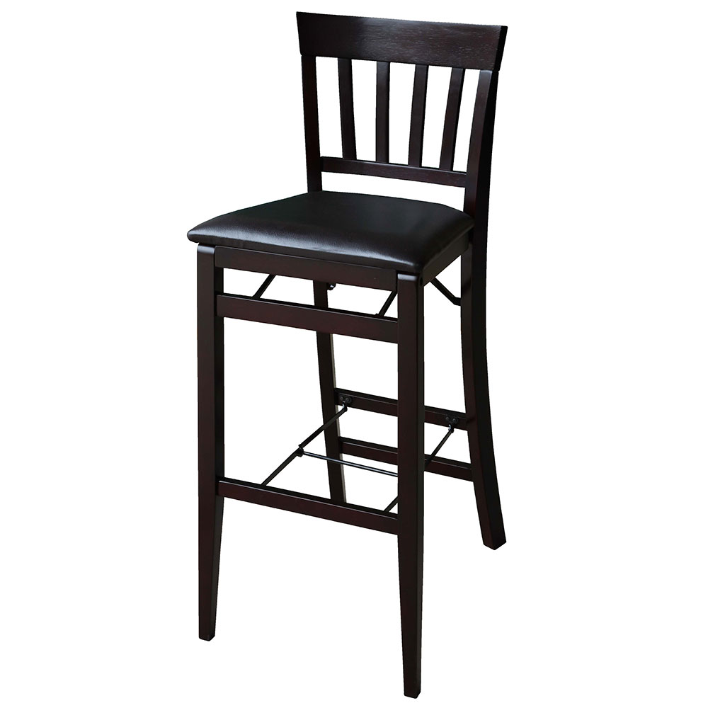 linon triena 24 mission back wood folding counter stool 01833esp 01 as u folding chair depot. Black Bedroom Furniture Sets. Home Design Ideas