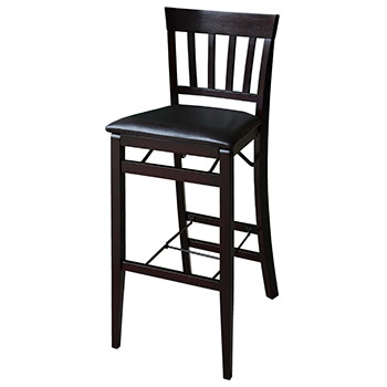 "Linon Triena 30"" Mission Back Folding Bar Stool - Espresso Finish LIN-01834ESP-01-AS-U"