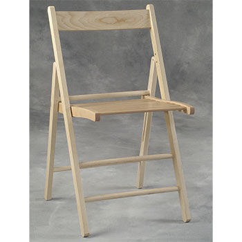 Wood Folding Slat Back Chair LIN-041NAT-04-AS