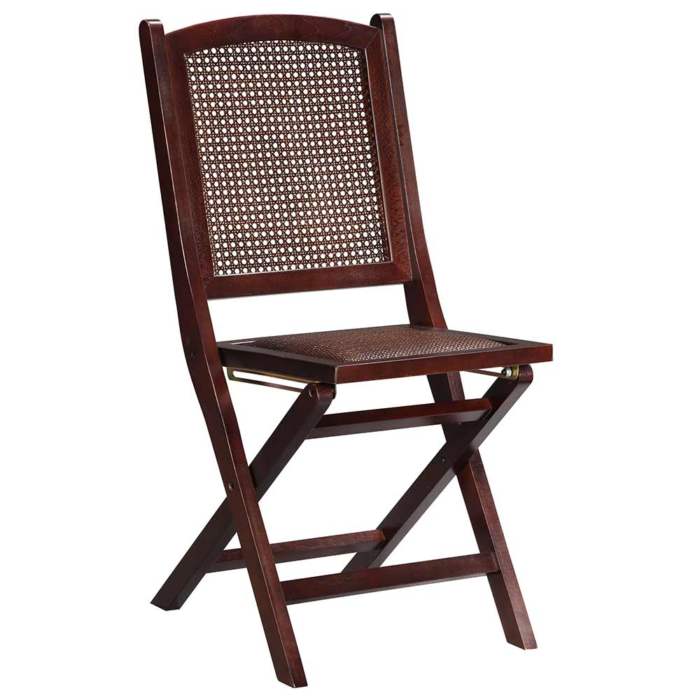 Linon Cane Wood Folding Chair w Rattan Seat WENG 02 AS U Folding Cha