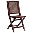 Linon Cane Wood Folding Chair w/Rattan Seat - Set of 2 - Wenge Finish LIN-04202WENG-02-AS-U