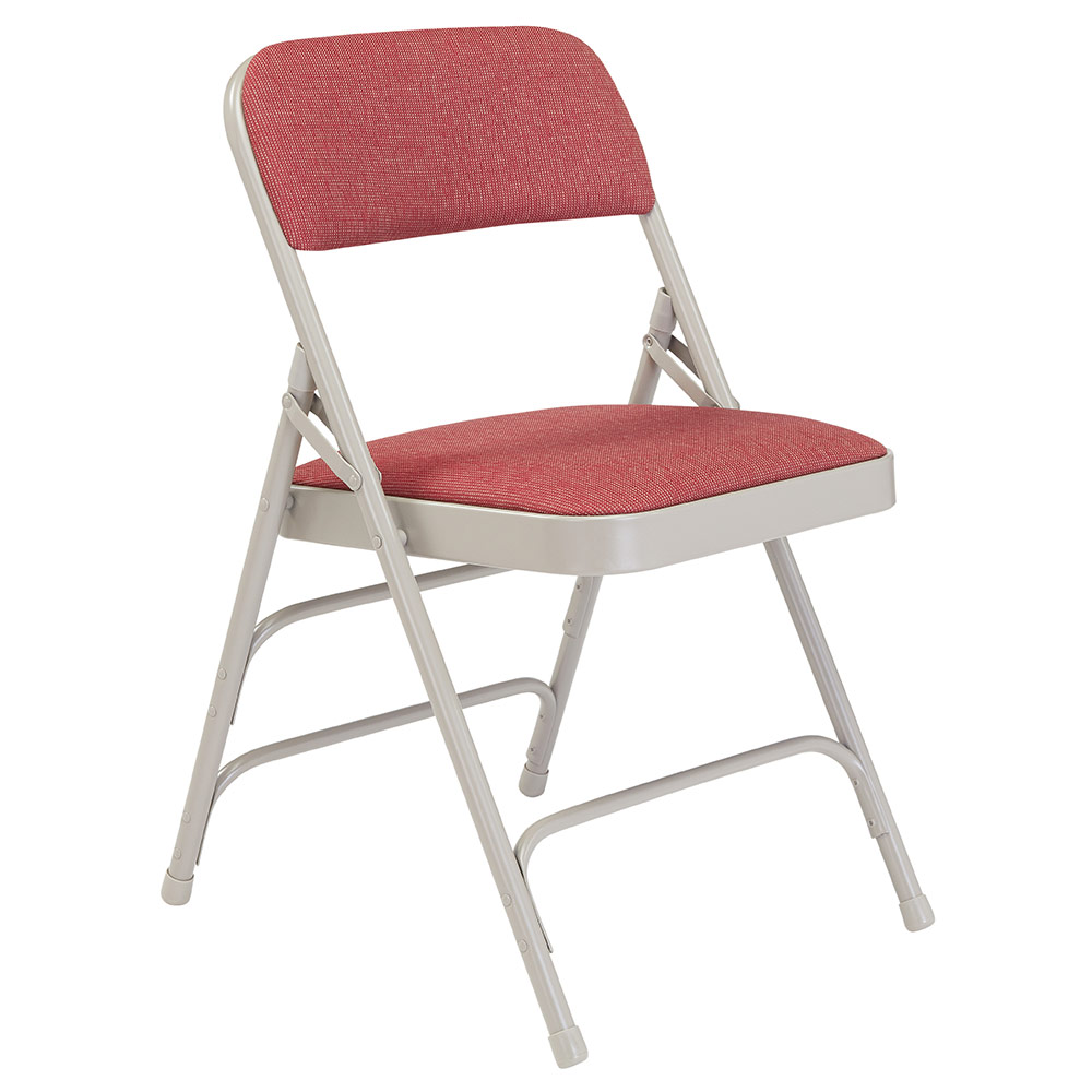 National Public Seating 2300 Series Premium Triple Brace Fabric Folding Chair