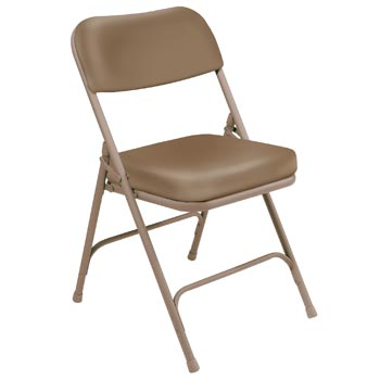 "National Public Seating 3200 Series 2"" Thick Padded Vinyl Folding Chair - Set of 2"