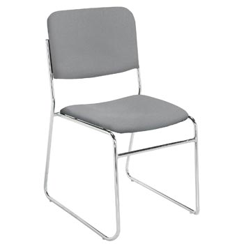 National Public Seating Lightweight Fabric Padded Stack Chair - Set of 2 NPS-8600-SERIES