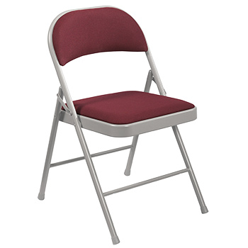 National Public Seating 900 Series Commercialine Fabric Folding Chair - Set of 4