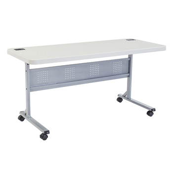 "National Public Seating BT2460 Series 24"" x 60"" Lightweight Blow Molded Resin Plastic Folding Table NPS-BT2460"