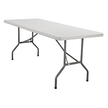 "National Public Seating BT3000 Series 30"" x 72"" Lightweight Blow Molded Resin Plastic Folding Table NPS-BT3072"