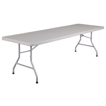 "National Public Seating BT3000 Series 30"" x 96"" Lightweight Blow Molded Resin Plastic Folding Table NPS-BT3096"