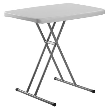 "National Public Seating PT Series 20"" x 30"" Lightweight Blow Molded Resin Plastic Folding Table NPS-PT3020"