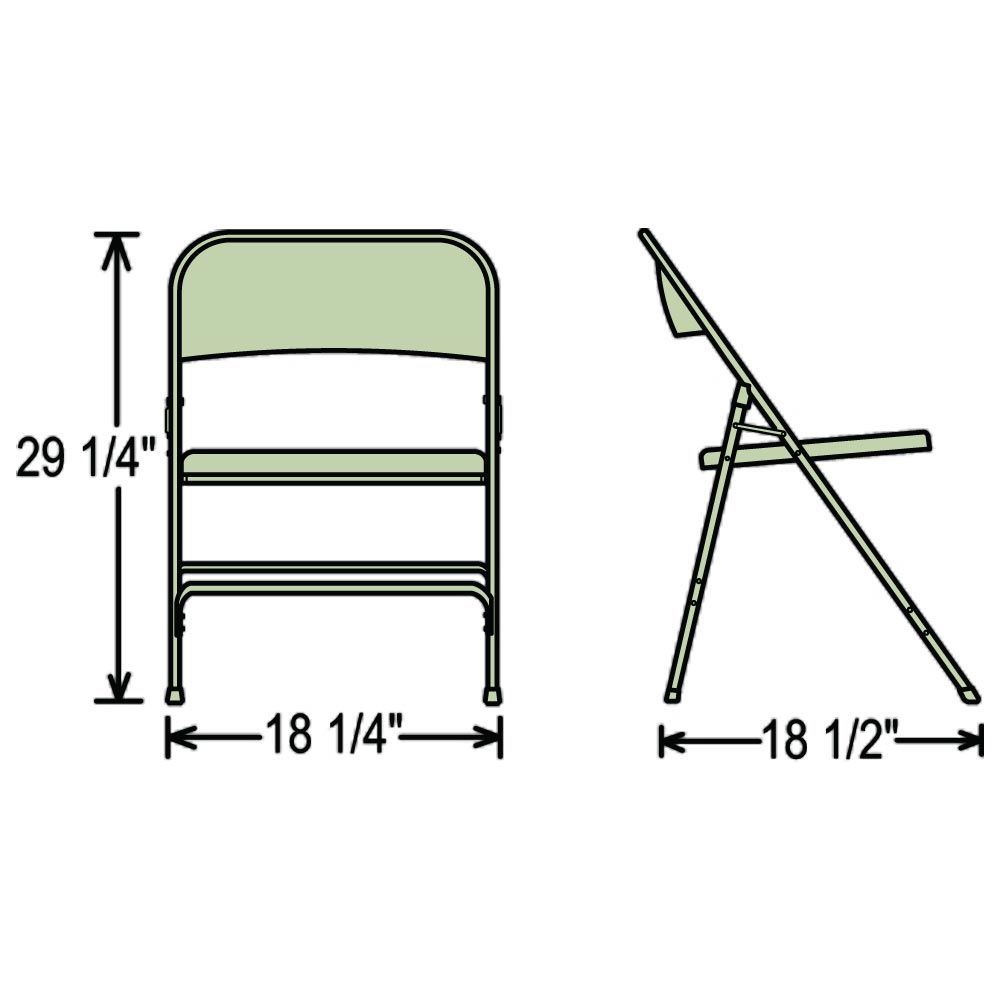 ... Dimensions Of The 50 Series Folding Chair