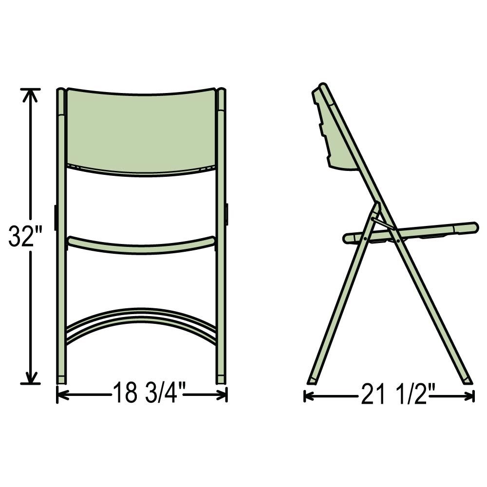 folding chairs plastic. Dimensions For 600 Series Folding Chairs Plastic E
