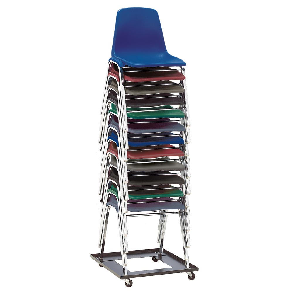 Lightweight stackable chairs - Shell Stack Chair Shown With Optional Stacking Chair Dolly