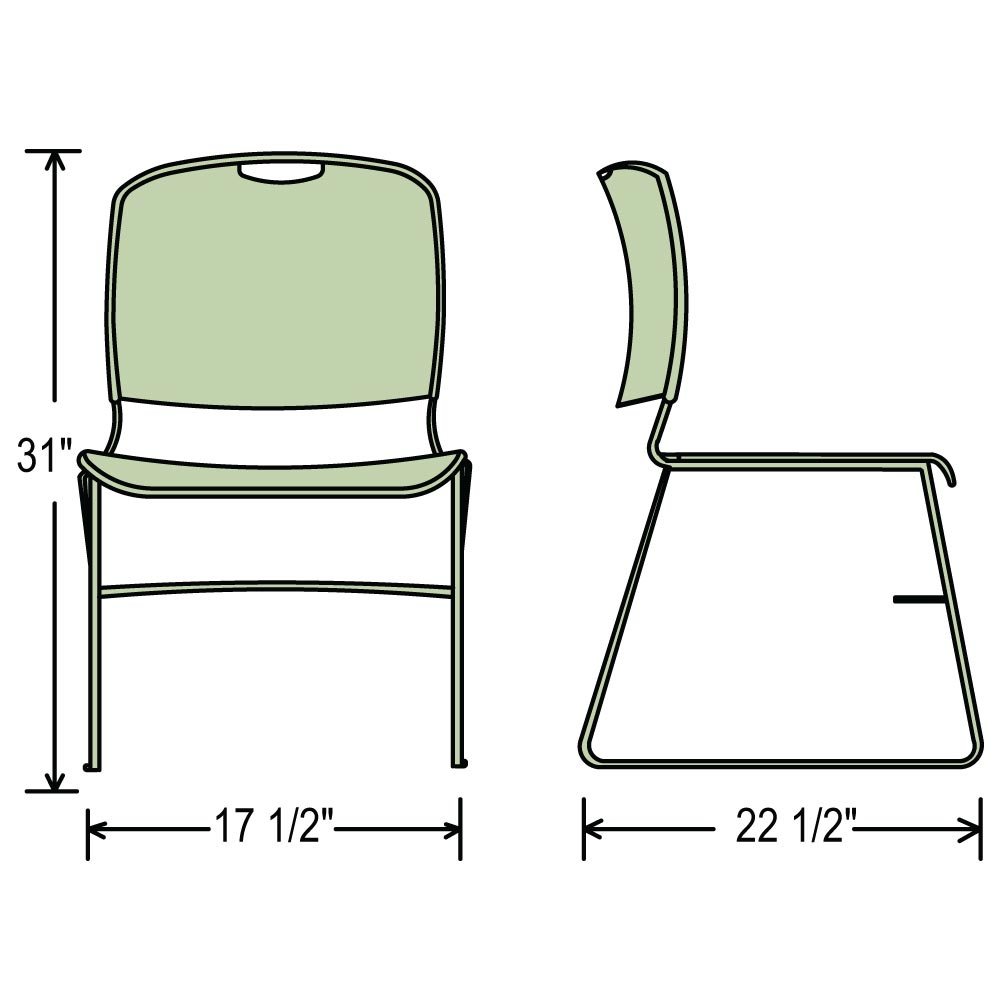 National Public Seating 8500 Series High Tech Ultra