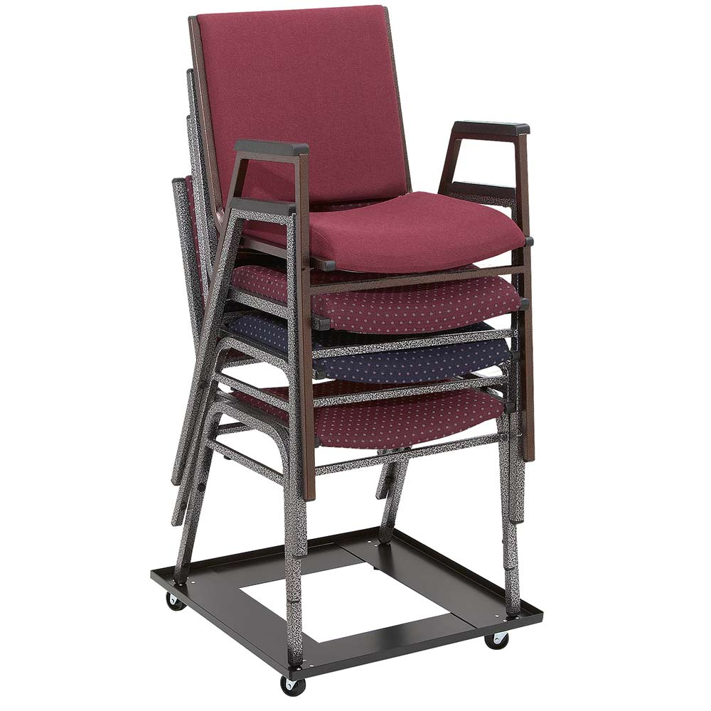 ... DY 81 Stacking Chair Caddy Shown With 9400 Series Stacking Chairs