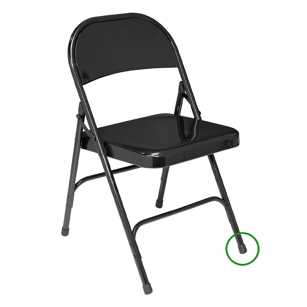 ... The replaceable color coordinated folding chair floor glide should be placed on the bottom of the  sc 1 st  Folding Chair Depot & National Public Seating Replacement Glide for NPS Folding Chairs ...