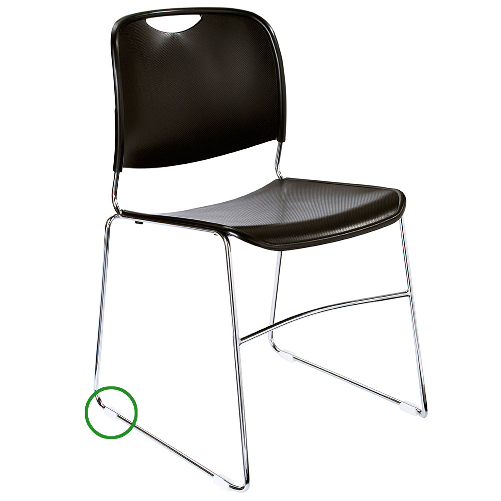 National Public Seating GL85 Stacking Chair Floor Glide For 8500 Series Stack