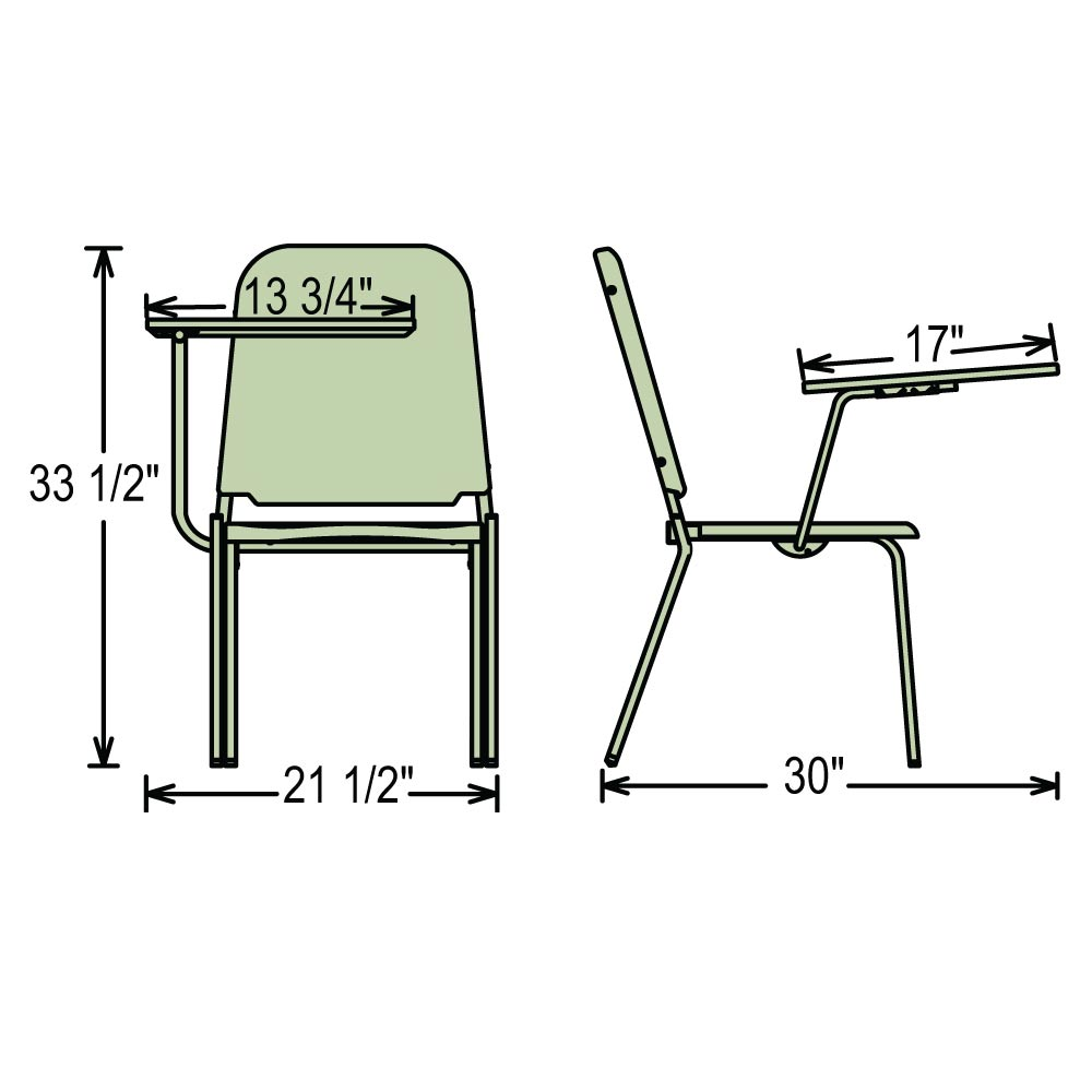 National Public Seating Tablet Arm For 8200 Series 8210
