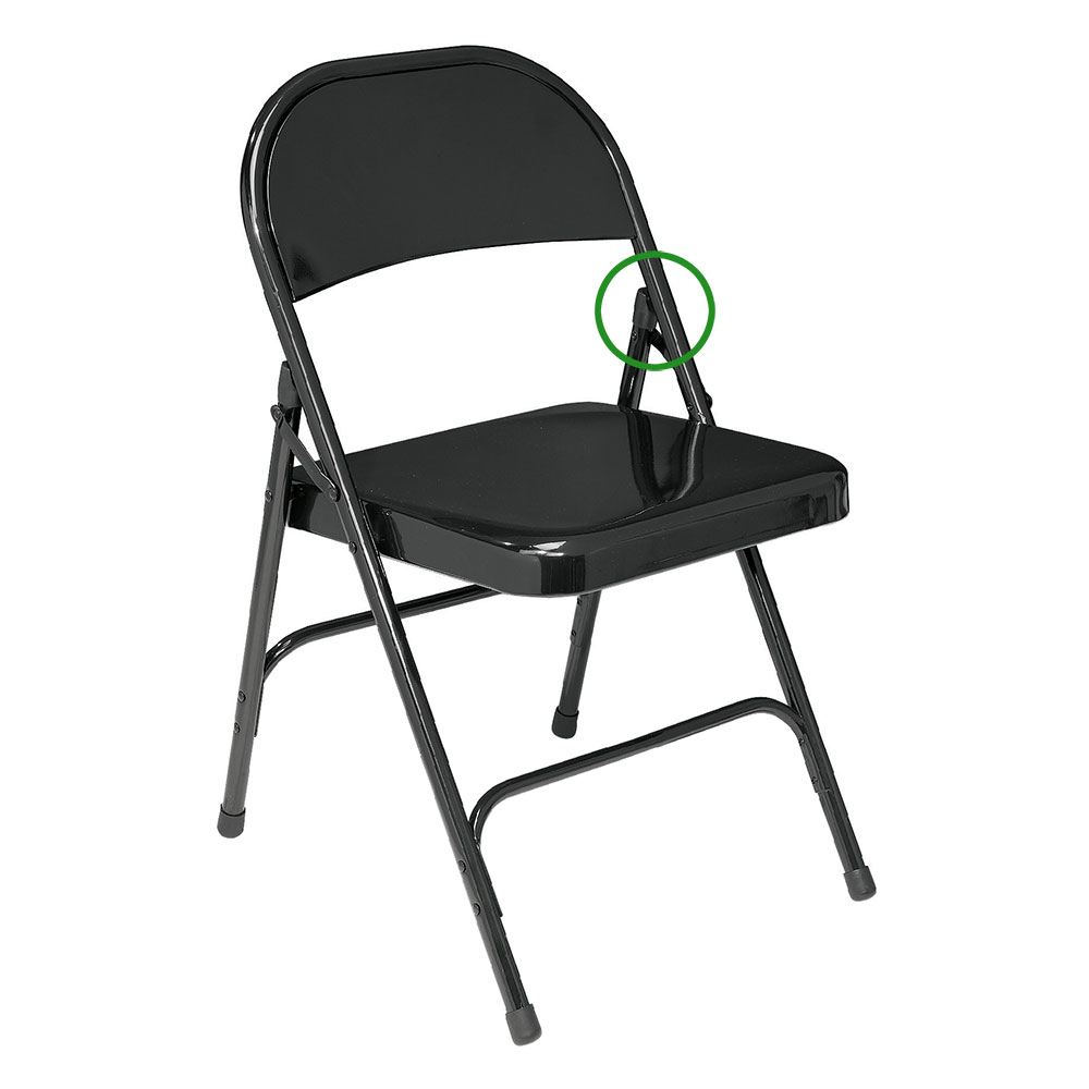 ... The Folding Chair V Tip Back Leg Stability Plug Should Be Placed On The  Top